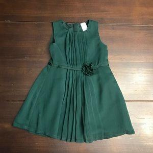 NWOT Girls Carters Green Dress Size 12 Months